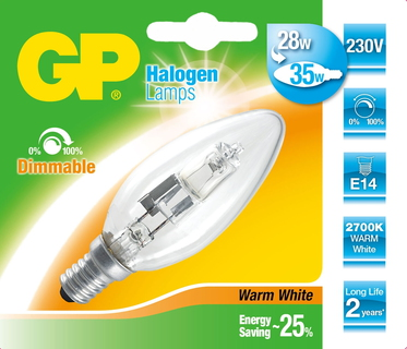GP Lighting 046615-HLME1 28W E14 D Halogeen