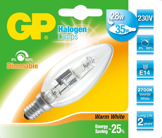 Lighting 046615-HLME1 28W E14 D Halogeen
