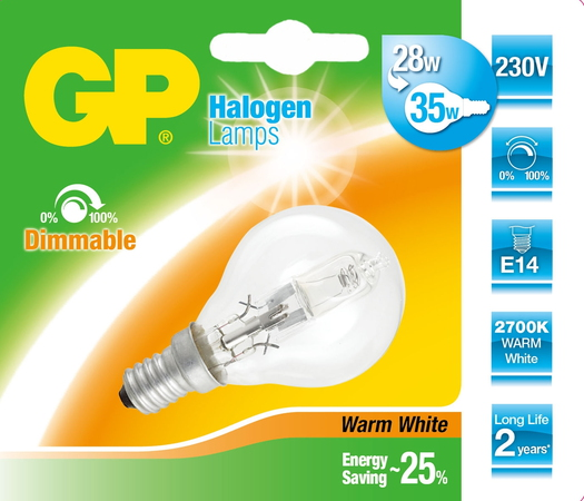 GP Lighting 046653-HLME1 28W E14 D Halogène