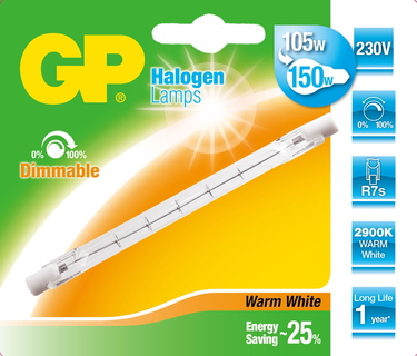GP Lighting 047575-HLME1 105W R7s D Halogeen