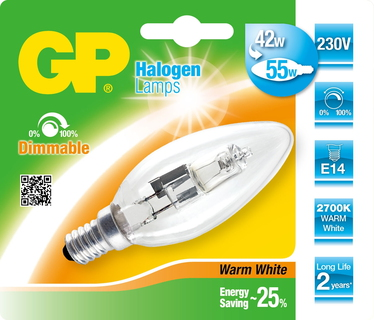GP Lighting 046639-HLME1 42W E14 D Halogeen