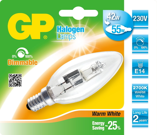 Lighting 046639-HLME1 42W E14 D Halogeen