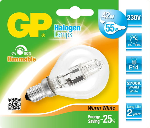 GP Lighting 046677-HLME1 42W E14 D Halogeen