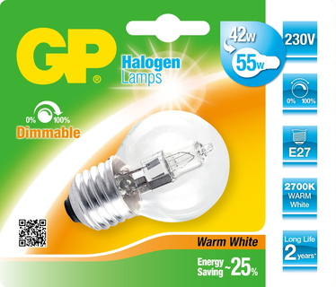 GP Lighting 046660-HLME1 42W E27 D Halogeen