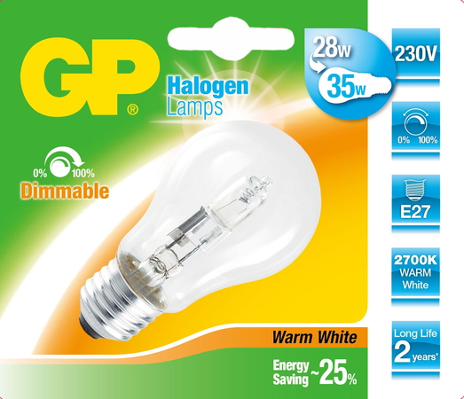 GP Lighting 046561-HLME1 30W E27 D Blanc chaud ampoule halogène