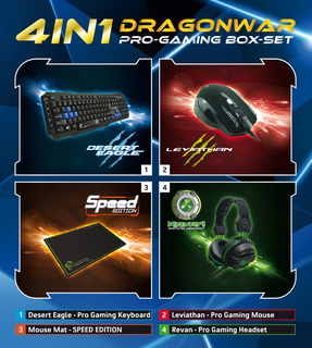 Dragon War 4 in 1 Pro Gaming Box Set