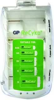 GP Batteries ReCyko+ PB19GS Indoor battery charger Blanc
