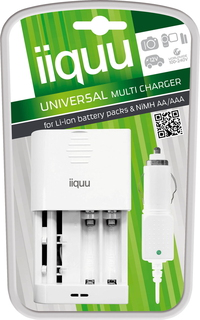 GP iiquu BCDW03 Auto/Indoor battery charger Blanc
