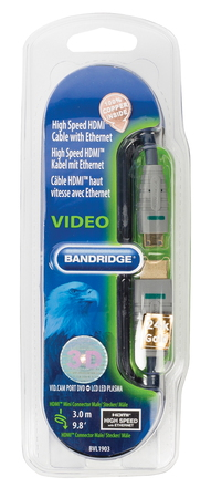Bandridge BVL1903 HDMI + Mini-HDMI kabel - 3m