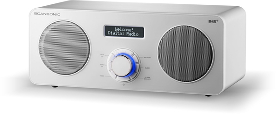 Scansonic DA300 DAB+ Radio - Wit