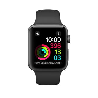 Apple Watch Series 1 38 mm Space Grey/Zwart (S/M/L)