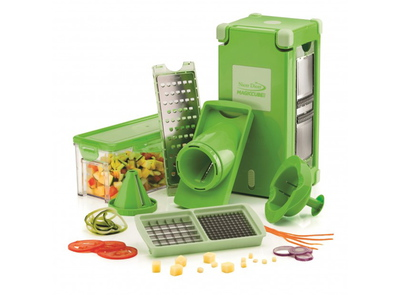 Nicer dicer magic cube - hachoir légumes - set 12 pièces