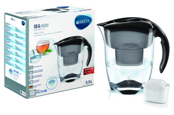 Brita Waterfilterkan - Elemaris XL Black