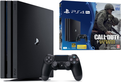 PlayStation 4 Pro 1 To + manette Dualshock 4 + Call of Duty WWII