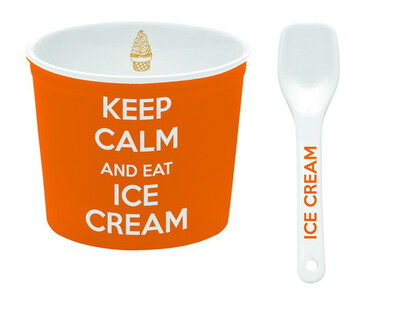Nuova R2S Coupe à glace + cuillère - Orange
