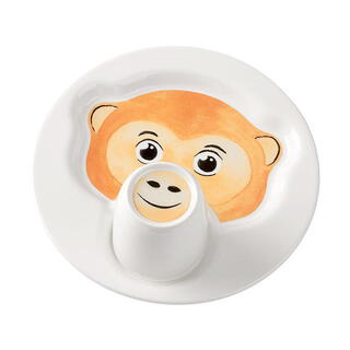 Villeroy&Boch Bord met beker-  Animal Friends - Aap