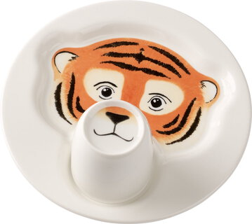 Villeroy&Boch Bord met beker - Animal Friends - Tijger