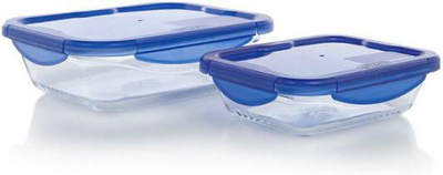 Pyrex Ovenschotels in glas - Cook&Go - 0,8 l + 1,7 l