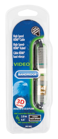 Bandridge Bandridge HDMI + HDMI câble - 2m - BVL1002