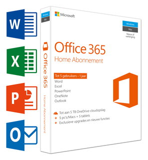 Office 365 Home (NL) - 5 PC's/Mac's + 5 tablettes + 5 smartphones