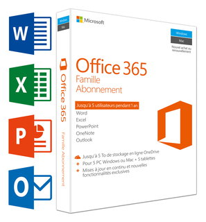 Office 365 Famille (FR) + 5 PC's/Mac's + 5 tablets + 5 smartphones