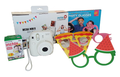 Fuji Instax mini 8 blanc party pack