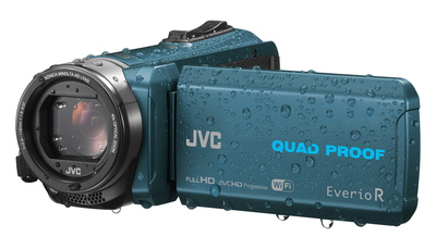 JVC  Camcorder Everio R RX645A Quad Proof 10 MP Full HD Wi-Fi Donker Turquoise