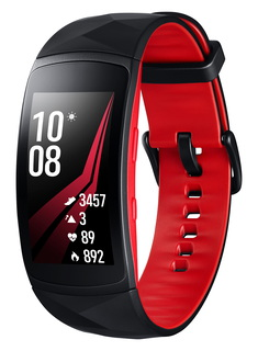 Gear Fit 2 Pro Noir/Rouge (S)