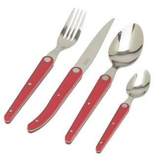 Set couverts Laguiole Sense - Rouge 16*