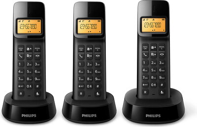 Philips D1403 Trio Zwart
