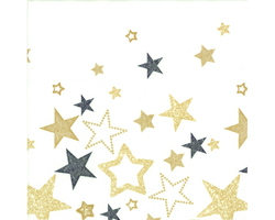Servetten Star Black/Gold