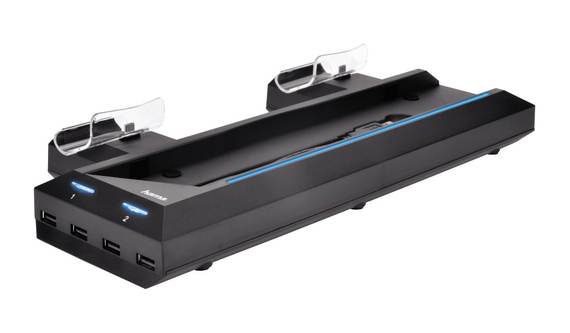 Hama Laadstation Bluelight multi-stand voor PS4
