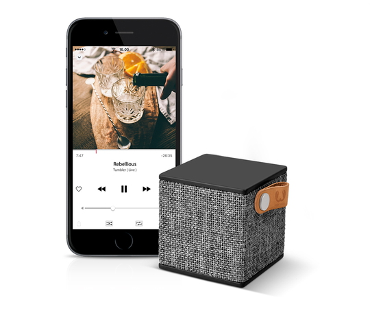 Fresh 'n Rebel Rockbox Cube Enceinte Bluetooth - Concrete
