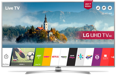 "LG 49UJ701V 49"" 4K Ultra HD Smart TV Wifi Argent écran LED"