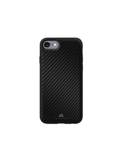 Backcover Real Carbon voor iPhone 7, 6 en 6S - Zwart