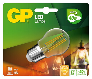 GP Filament Classic 3,6W E27 A+ LED