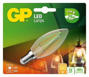 GP Filament Mini Candle 2,3W E14 A++ Ledlamp