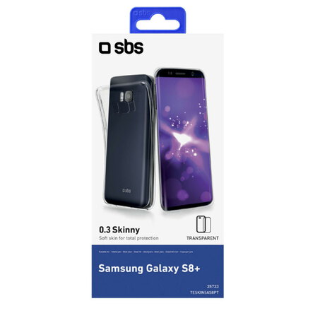 SBS Backcover pour Galaxy S8+ - Transparent