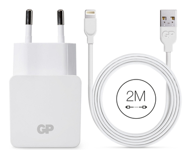 GP Oplader Lightning naar USB - Wit