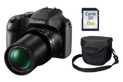 Lumix FZ82 Noir + Carte SD 8 Go + Sac de transport