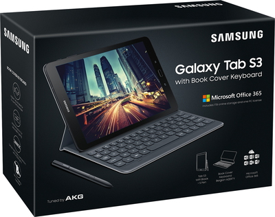 "Galaxy Tab S3 9,7"" 32 Go Wi-Fi Noir + keyboardcover Noir + MS Office 365"