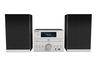 MIC122BT Home audio micro system 50W Noir, Argent ensemble audio pour la maison
