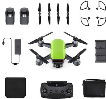DJI Spark Fly More Combo 4propellers Groen camera-drone