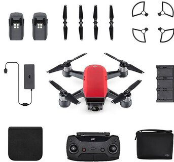 Spark Fly More Combo 4propellers Rood camera-drone