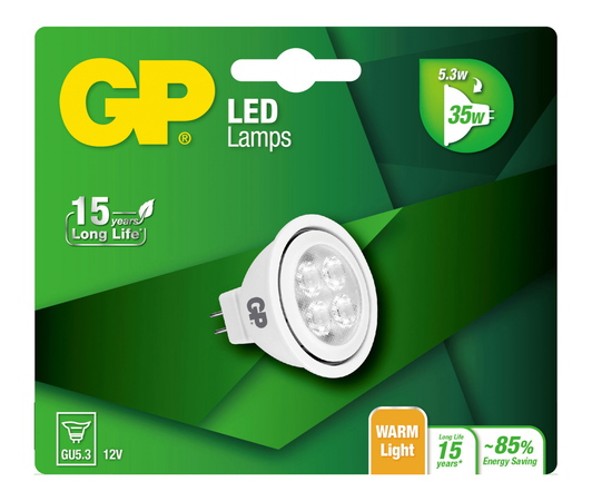 GP Reflector 076490-LDCE1 3,8W GU5.3 A+ LED