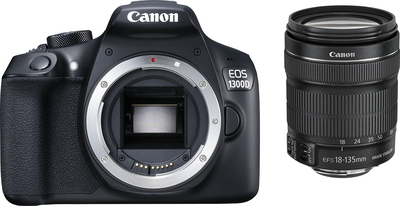 Canon EOS 1300D 18 MP Full HD Zwart + lens 18-135 mm IS