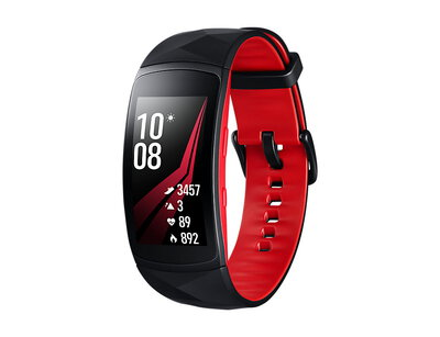 Gear Fit 2 Pro Noir/Rouge (L)