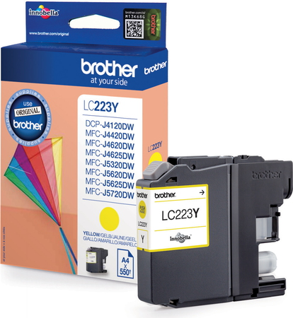Brother Cartouche d'encre LC-223Y - Jaune