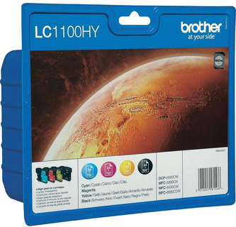 Brother LC-1100HY 4-kleuren Value Pack