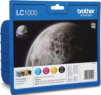 Brother LC-1000 4-kleuren Value Pack